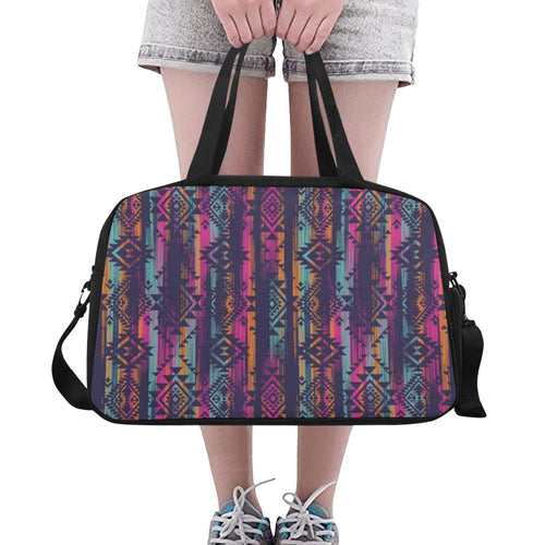 Line Tribal Aztec Crossbody Travel Bag