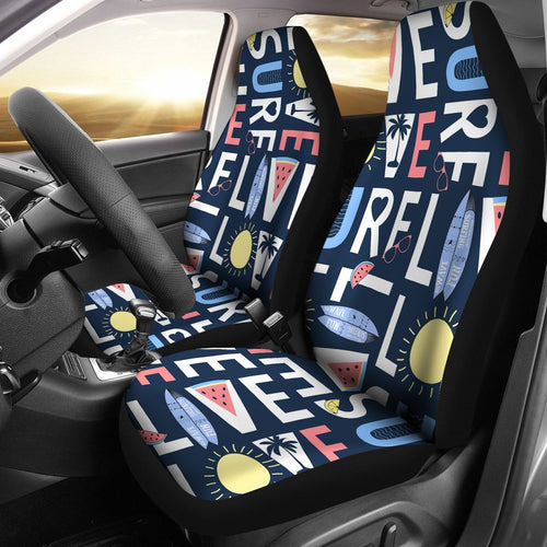 Live Love Surf Universal Fit Car Seat Covers