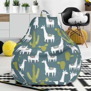 Llama Cactus Pattern Print Design 03 Bean Bag Chair-JORJUNE.COM