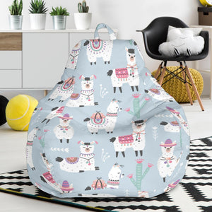 Llama Pattern Print Design 04 Bean Bag Chair-JORJUNE.COM
