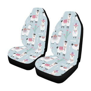 Llama Pattern Print Design 04 Car Seat Covers (Set of 2)-JORJUNE.COM