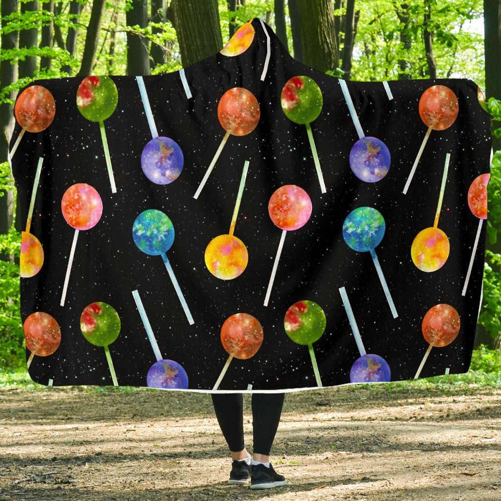 Lollipop Pattern Print Design LL04 Hooded Blanket-JORJUNE.COM