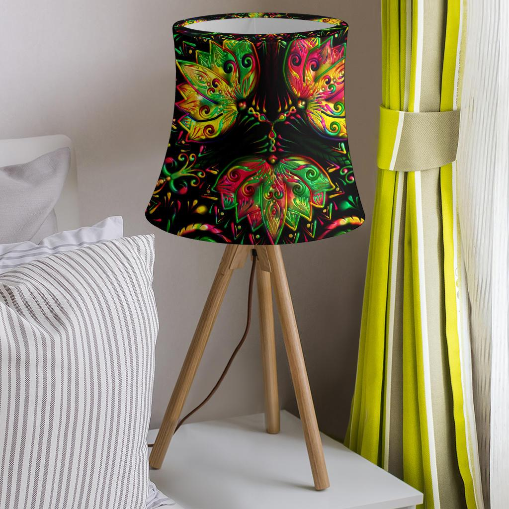 lotus Boho Pattern Print Design LO09 Drum Lamp Shade-JORJUNE.COM