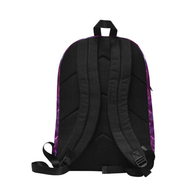 lotus Pattern Print Design LO01 Unisex Nylon Backpacks-JorJune