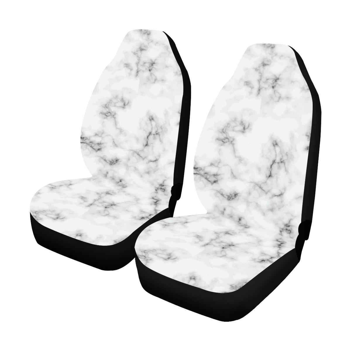 Marble Pattern Print Design 01 Car Seat Covers (Set of 2)-JORJUNE.COM