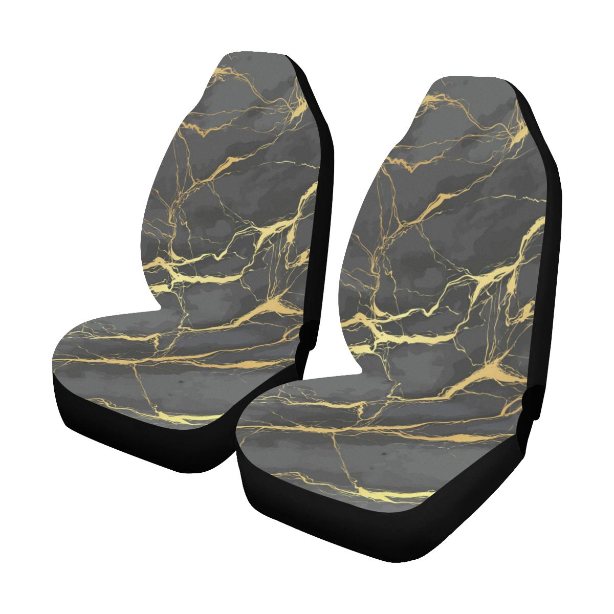 Marble Pattern Print Design 02 Car Seat Covers (Set of 2)-JORJUNE.COM
