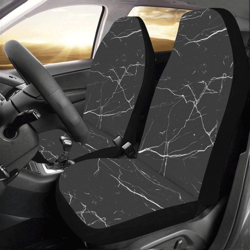 Marble Pattern Print Design 04 Car Seat Covers (Set of 2)-JORJUNE.COM