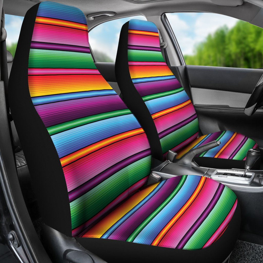Mexican Blanket Colorful Print Pattern Universal Fit Car Seat