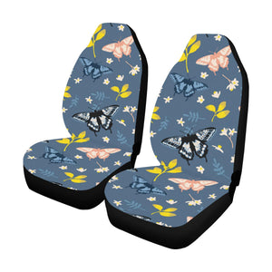 Monarch Butterfly Pattern Print Design 02 Car Seat Covers (Set of 2)-JORJUNE.COM
