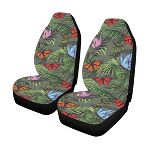 Monarch Butterfly Pattern Print Design 04 Car Seat Covers (Set of 2)-JORJUNE.COM