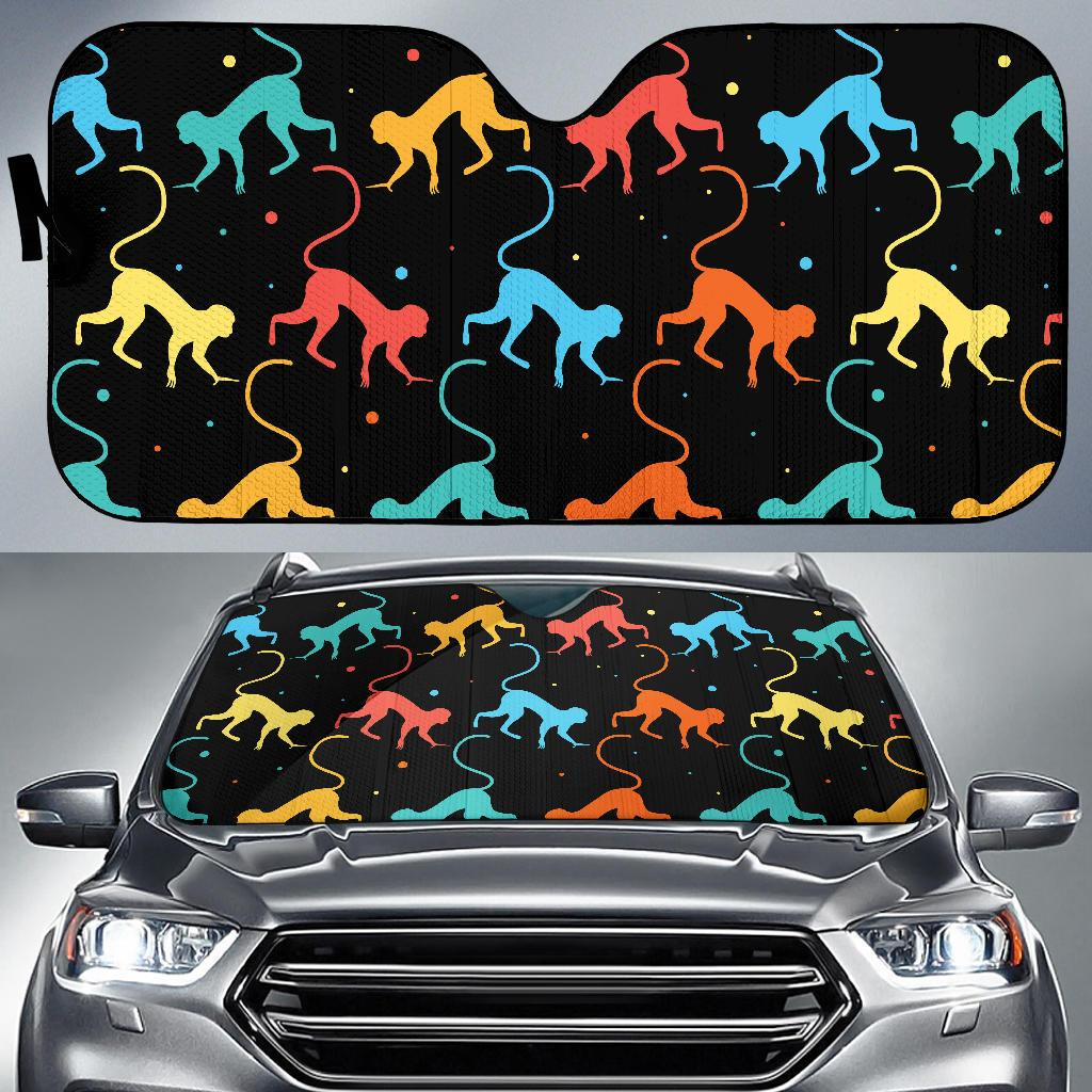Monkey Pattern Print Design 01 Car Sun Shades-JORJUNE.COM