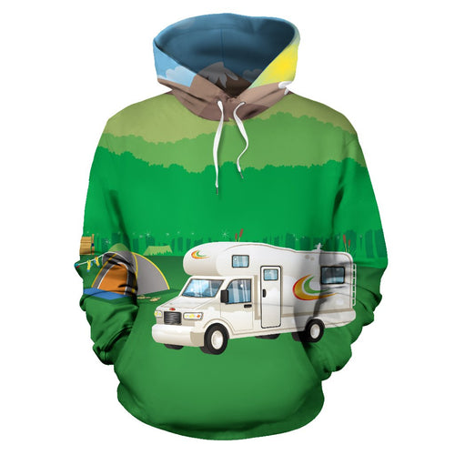 Motorhome Camping Design All Over Print Hoodie