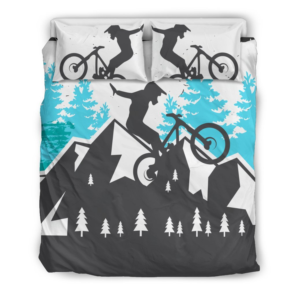 Mountain Bike Design Duvet Cover Bedding Set
