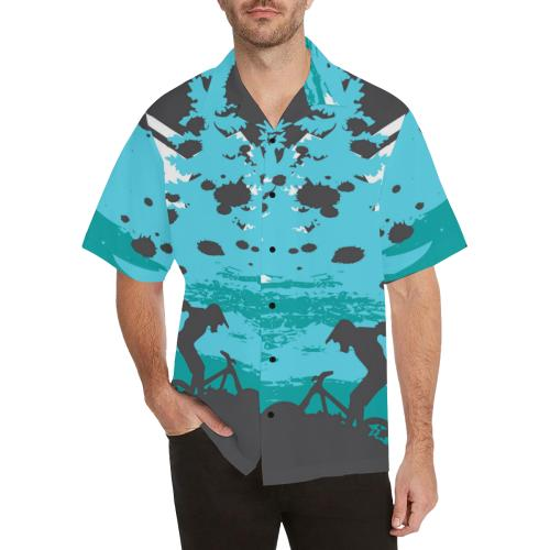 Mountain Bike Design Men Hawaiian Shirt