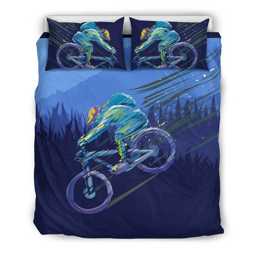 Mountain Bike Downhill Duvet Cover Bedding Set