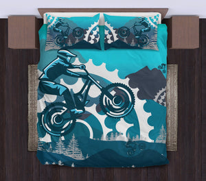 Mountain bike Duvet Cover Bedding Set