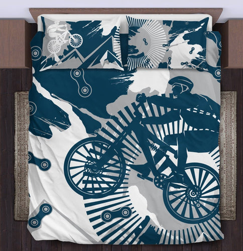 Mountain bike Jumping Duvet Cover Bedding Set