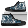 Mountain bike Men High Top Canvas Shoes