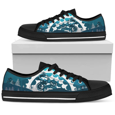 Mountain bike Men Low Top Canvas Shoes