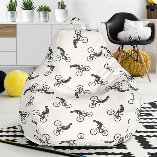 Mountain bike Pattern Print Design 01 Bean Bag Chair-JORJUNE.COM