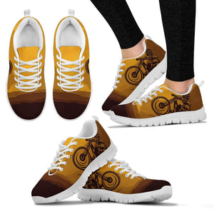 Mountain Bike Print Women Sneakers