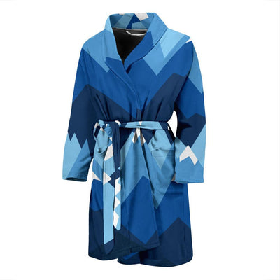 Mountain Pattern Print Design 04 Men Bathrobe-JORJUNE.COM