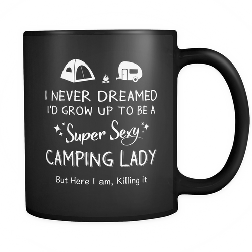 Mug Black - Super sexy camping lady CAMP2023