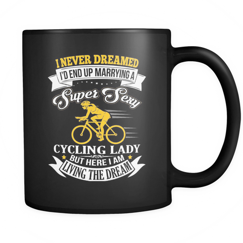 Mug black super sexy cycling lady CYC2002