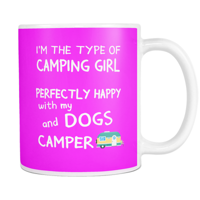 Mug Camping girl dogs camper camp1101