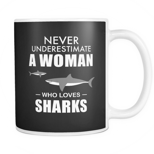 Mug woman who loves sharks SCD2003