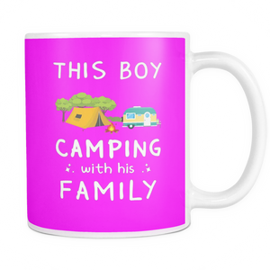 Mugs 11oz boy loves camping with family cups coffee camp2078