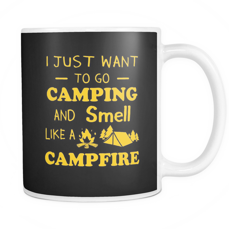 Mugs 11oz camping and smell like a campfire CAMP2040