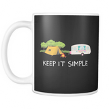 Mugs 11oz camping keep it simple cups coffee camp2077