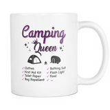 Mugs 11oz camping queen cups coffee camp2076