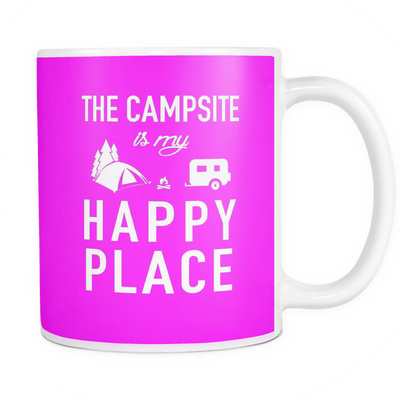 Mugs 11oz color campsite is my happy place camping CAMP2024