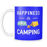 Mugs 11oz happiness is camping camp2087