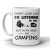 Mugs 11oz in my head i'm camping CAMP2016