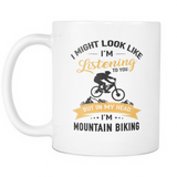 Mugs 11oz in my head i'm mountain biking bike cups coffee mtb2003