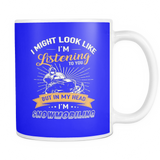 Mugs 11oz in my head i'm snowmobiling snowmobile cups coffee sm2006