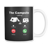 Mugs 11oz the campsite calling camping CAMP2038