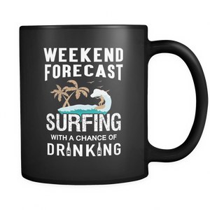 Mugs 11oz weekend forcast surfing drinking surf cups coffee sf2001