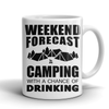Mugs 11oz weekend forecast camping CAMP2005