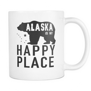 Mugs Alaska happy place Cups Coffee ala2004