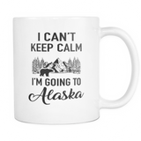 Mugs can't keep calm going to Alaska Cups Coffee ala2010