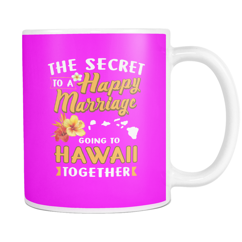 Mugs The secret happy marriage going to Hawaii together haw1091