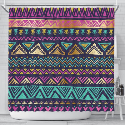 Multicolor Tribal aztec Shower Curtain