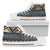 Multicolor Tribal aztec Men High Top Shoes