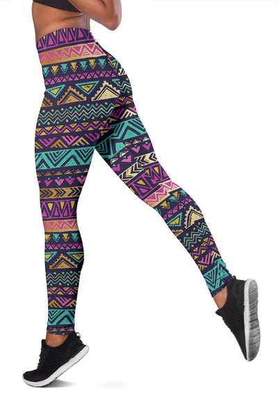 Multicolor Tribal Aztec Women Leggings