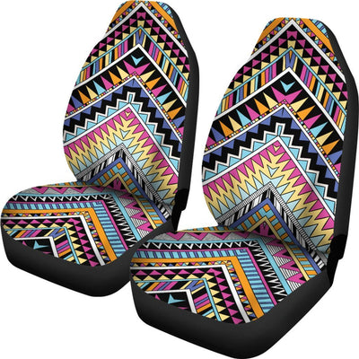 Multicolor zigzag Tribal Aztec Universal Fit Car Seat Covers
