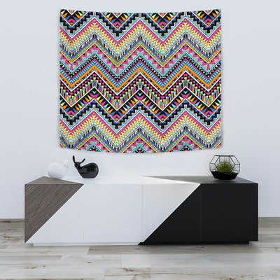 Multicolor zigzag Tribal Aztec Wall Tapestry